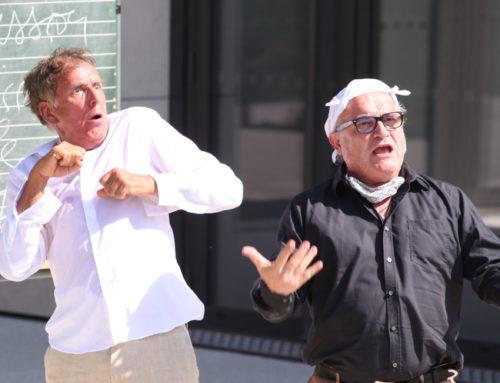 Une première réussie au Théâtre de Verdure inauguré par un Molière Volant pétillant !