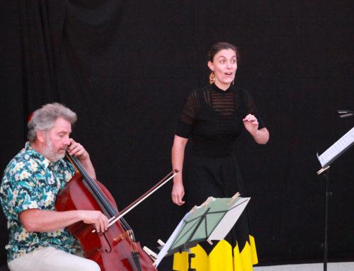 Marie Girardot-Viry et François Siéfert ont réchauffé le Théâtre de Verdure
